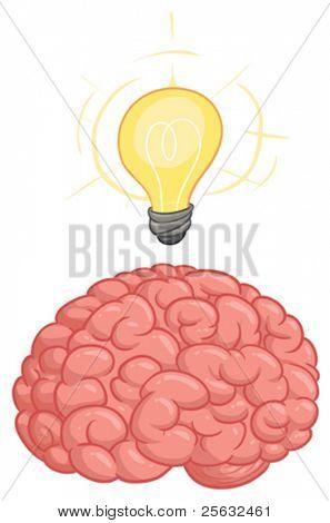 Brain with idea