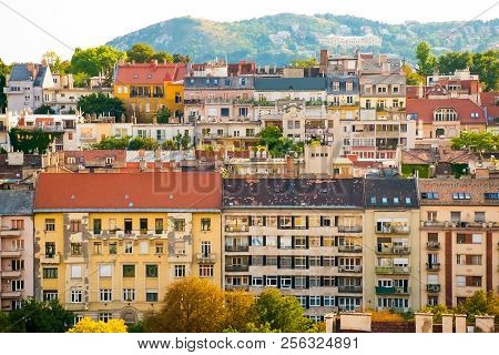 Budapest Panorama Of Many Buildings, Cityscape Of The Budapest Inhungary