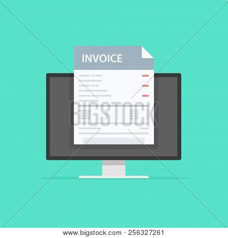 Invoice Concept. Payment, Bills, Receipts, Invoices. Flat Design, Abstract Vector Illustration. Acco