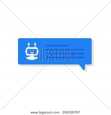 Chatbot Banner Concept. User Chatting With Chatbot In Mobile Application. Vector Illustration.