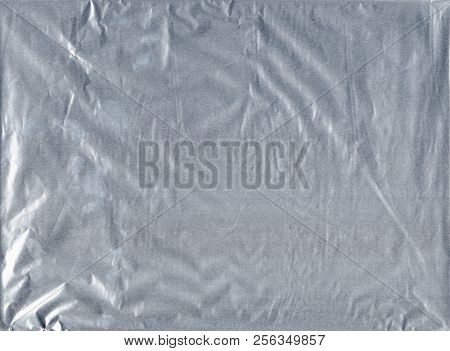 Shiny Gray Silver Aluminum Crumpled Wrapping Paper Foil Texture For Wallpaper Decoration Element Bac