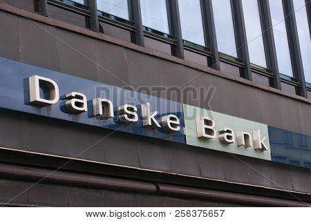 Copenhagen, Denmark - September 1: Danske Bank Logo On Front Of Branch. Danske Bank Is The Largest B