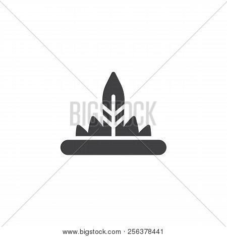 491dd4af75d Indian Headdress Vector Icon. Filled Flat Sign For Mobile Concept And Web  Design. Native
