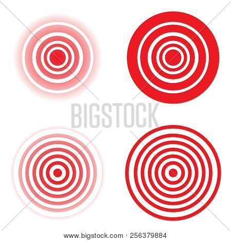Set Pain Red Circle Vector Photo Free Trial Bigstock
