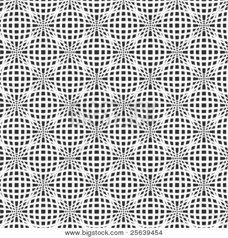 A fine, black and white, vector pattern
