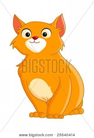 cute cat with red hair