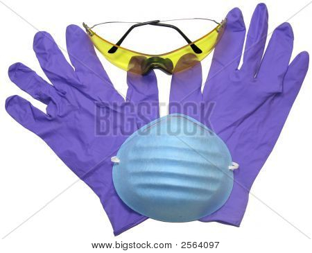 Gloves, Goggles And Mask Closeup