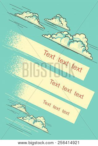 Cloudy Blue Sky Background For Text
