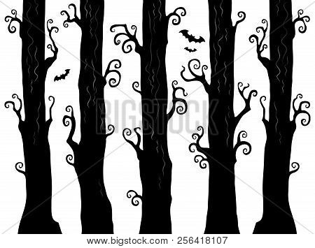 Halloween Forest Theme Image 1 - Eps10 Vector Picture Illustration.
