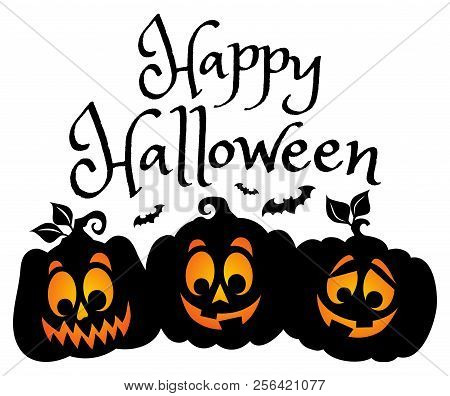 Happy Halloween Composition Image 1 - Eps10 Vector Picture Illustration.