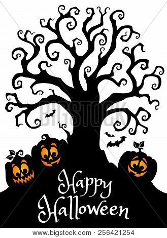 Happy Halloween Composition Image 3 - Eps10 Vector Picture Illustration.