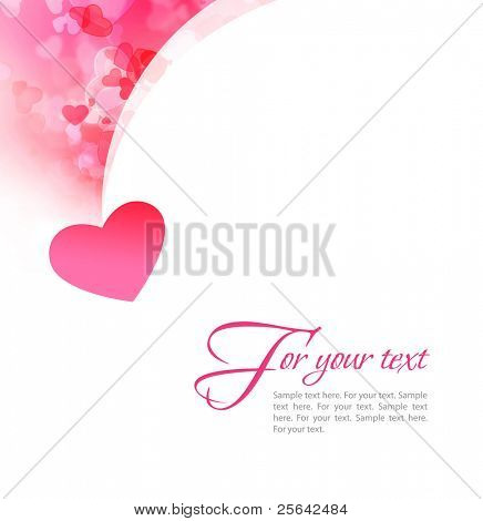 Abstract st valentine white background with hearts. For themes like love, valentine's day, mother's day, holidays.