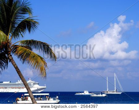 Boats In The Caribbean