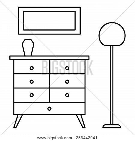 Room Clothes Drawer Icon. Outline Illustration Of Room Clothes Drawer Vector Icon For Web Design Iso