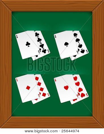 Poker cards. Vector illustration. Eps10
