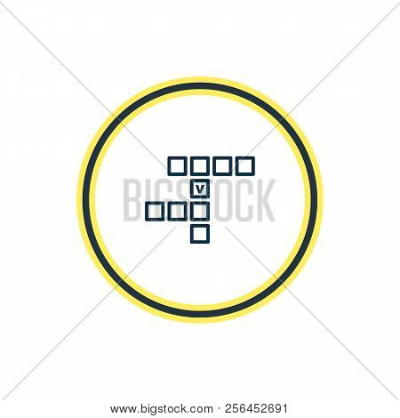 Vector illustration of crossword icon line. Beautiful entertainment element also can be used as rebus icon element. poster