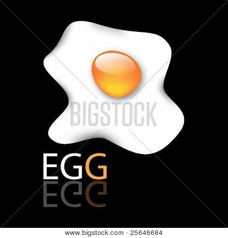 Illustration of fried egg