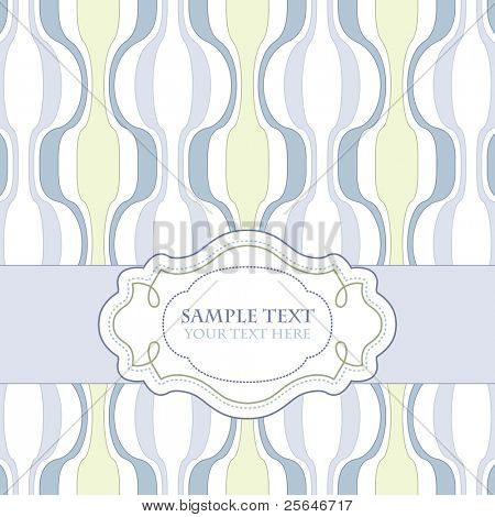 Vintage template frame design for greeting card, vector version also available in my portfolio