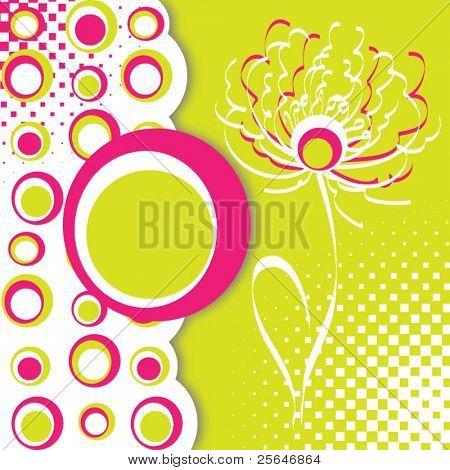 Floral vintage template design, vector illustration