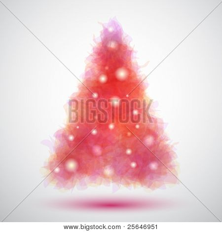 Delicate and transparent christmas tree