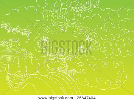 cloudy sky doodle