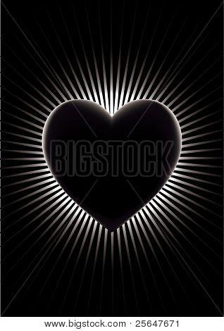 Loving black heart.