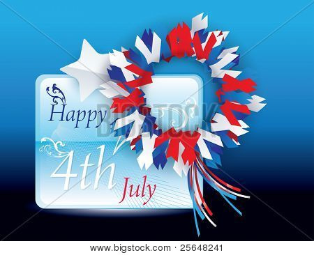 Happy 4th of July Vector greeting card