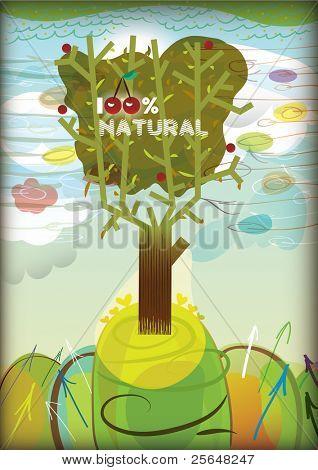 100% natural tree
