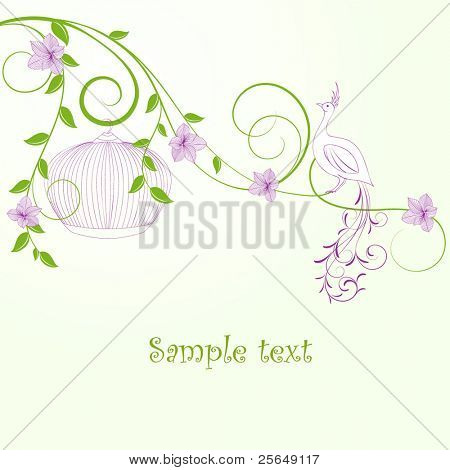 Beautiful vintage floral background.