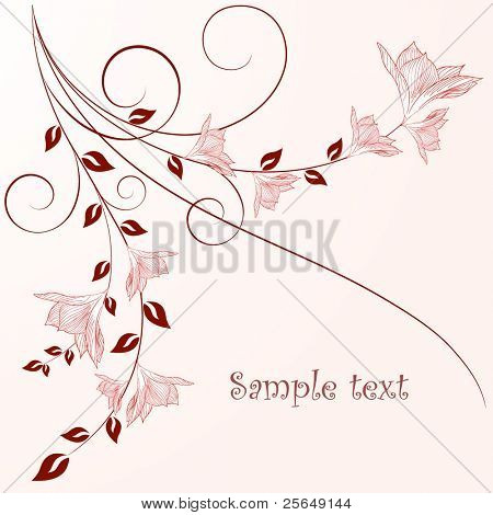 Beautiful vintage floral background with flowers.