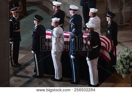 Washington D.c., Usa - Sep. 01, 2018: Memorial Service Of U.s. Senator John Mccain At National Cathe