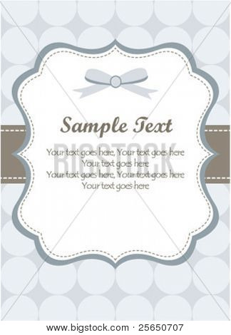 Cute Blue Romantic Card