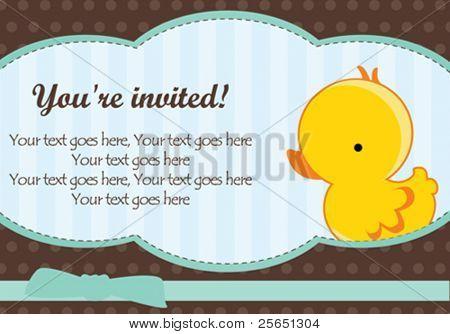 Cute baby boy arrival card