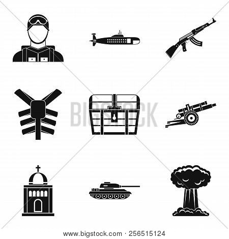 Disciplinary penalty icons set. Simple set of 9 disciplinary penalty icons for web isolated on white background poster