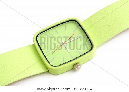 Green Wristwatch