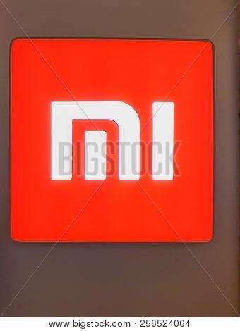 Kuala Lumpur, Malaysia - August 25, 2018: Xiaomi Logo. Xiaomi Is A Chinese Electronics Company Makes