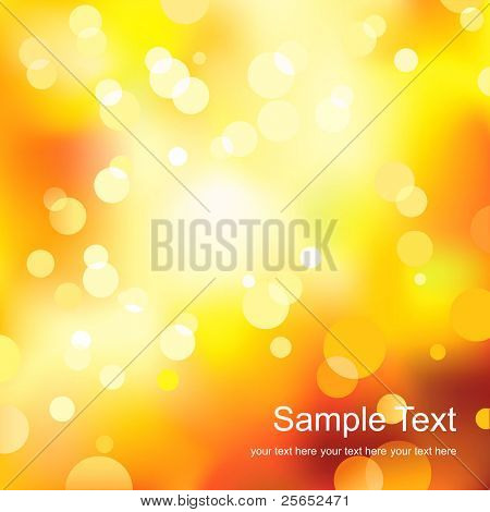 Abstract yellow light background.Vector.