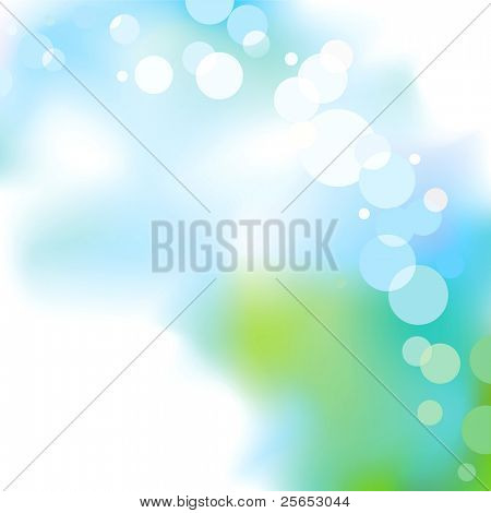 Abstract blue light  background.