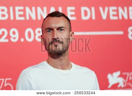 Sébastien Marnier attends 'L'Heure De La Sortie' photocall during the 75th Venice Film Festival at Sala Casino on August 31, 2018 in Venice, Italy.