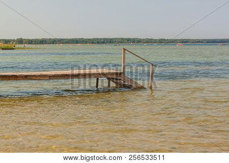 Transparent Water On Lake Svitiaz On A Sunny Day (lakes Of Shatsk, Shatsky National Natural Park)