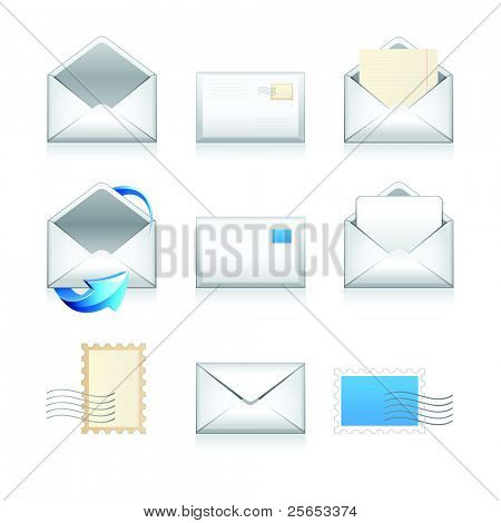 Set vector e mail icons.
