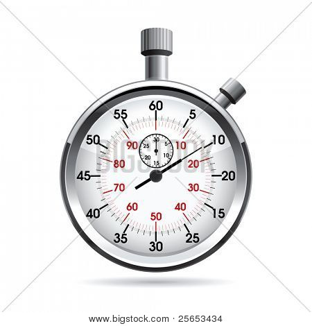 Raster  illustration of stop watch.