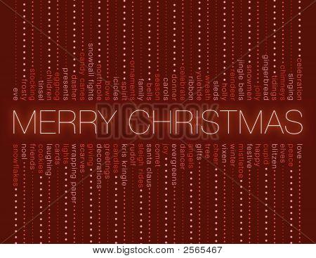 Christmas Word Stripes