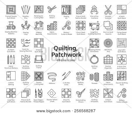 Quilting & Patchwork. Supplies And Accessories For Sewing Quilts From Fabric Squares & Blocks. Diffe