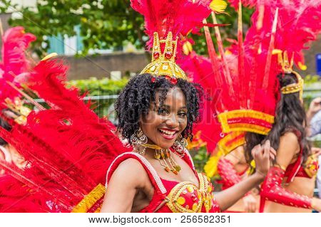 Notting Hill Carnival, London. August 27 2018. A View Of Some Of The Participants At Notting Hill Ca