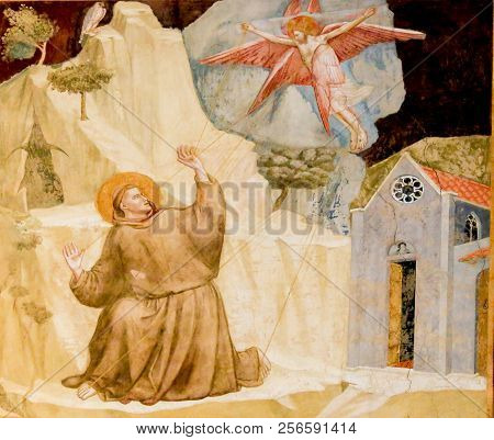 Saint Francis Receiving The Stigmata, By Giotto