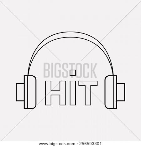 Music Hit Icon Line Element. Vector Illustration Of Music Hit Icon Line Isolated On Clean Background