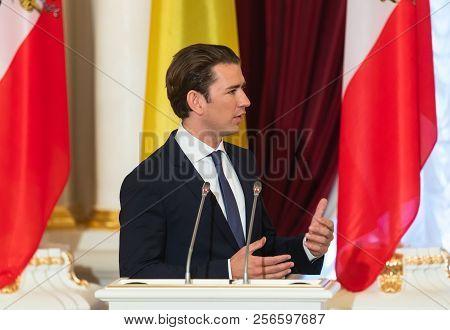 Federal Chancellor Of The Republic Of Austria Sebastian Kurz