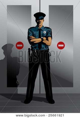 Profession set: security guard (browse our portfolio for more high quality vectors)
