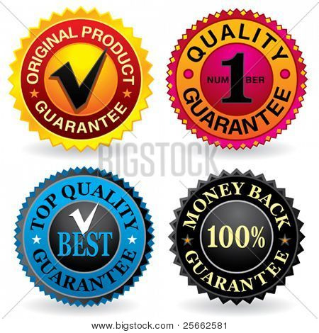 Set of various quality labels. Visit my portfolio for similar images.